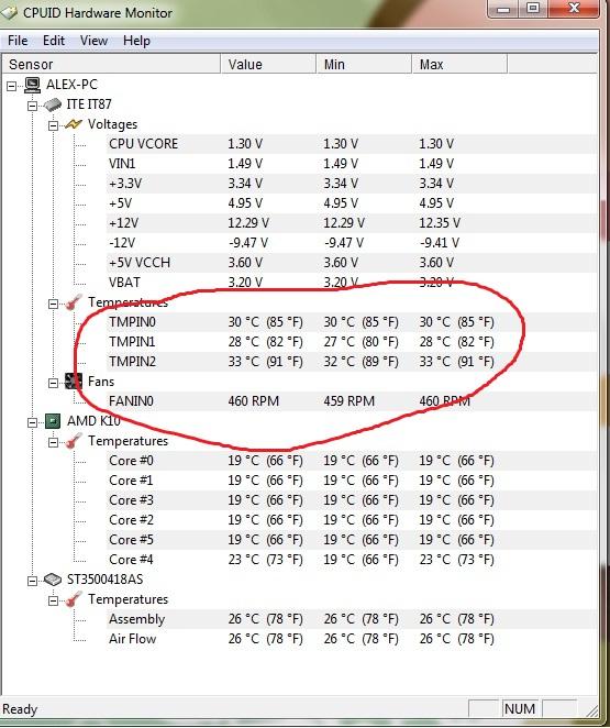 cpu-z temperature windows 10