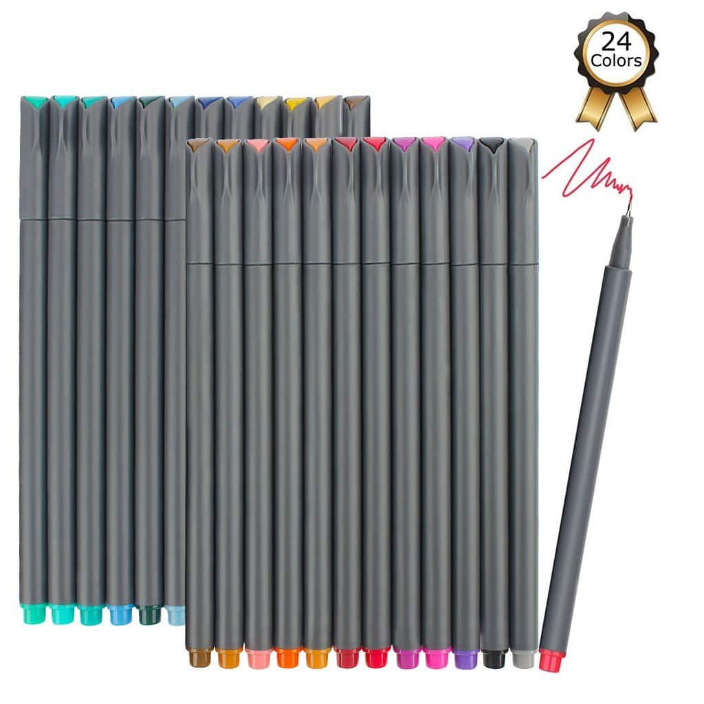 24 count ibayam fineliner pens assorted colors Elegant writer calligraphy pens