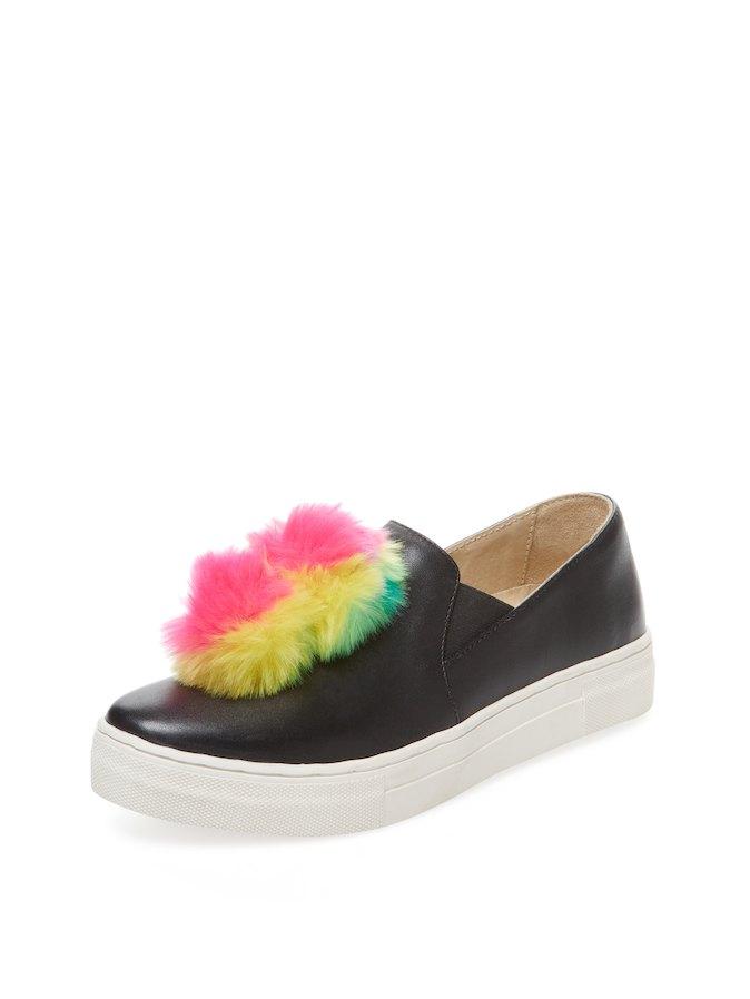 Seychelles Leather Slip-On Faux Fur Sneaker $7.97@gilt
