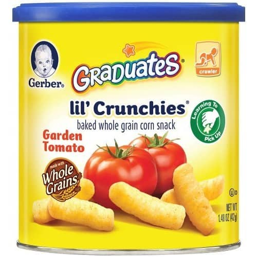 Gerber Graduates Lil' Crunchies, Garden Tomato, 1.48-Ounce Canisters (Pack of 6) $7.81@amazon