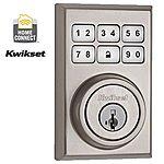 Kwikset 910 Z-Wave Contemporary SmartCode Electronic Deadbolt featuring SmartKey in Satin Nickel $99.97