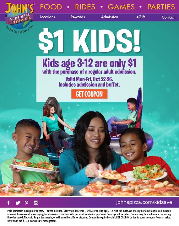 Incredible John's $1 entry for kids