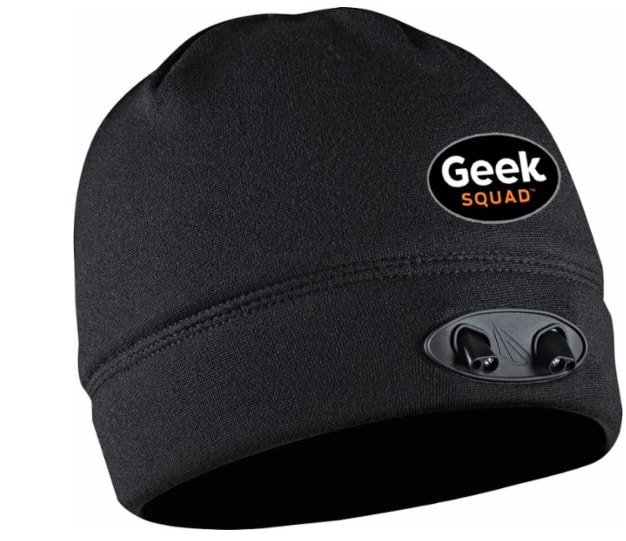 Panther Vision - Geek Squad POWERCAP LED Lined Fleece Beanie - Black  $ 11.99 @Bestbuy $11.99