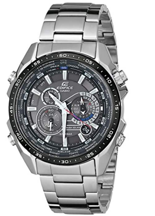 $119.99 Casio Men's EQS500DB-1A1 Edifice Tough Solar Stainless Steel Multi-Function Watch with Link Bracelet