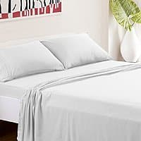 Superb Amazon TasteLife piece White Queen Size Hypoallergenic Bed Sheets