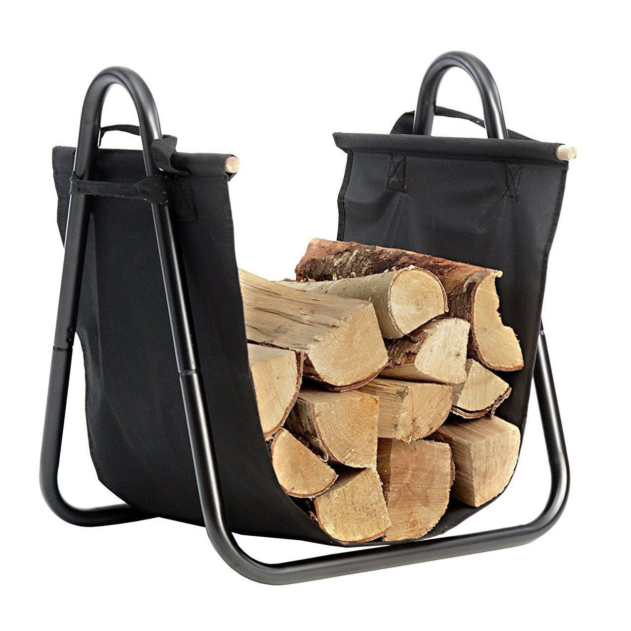 Fireplace Log Holder with Canvas Tote Carrier $12.99 (F/S Prime)