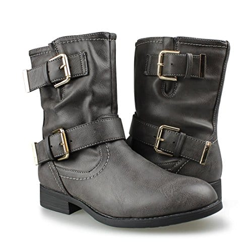 Women's Buckle Mid Calf Boots - $19.99 (F/S Prime)