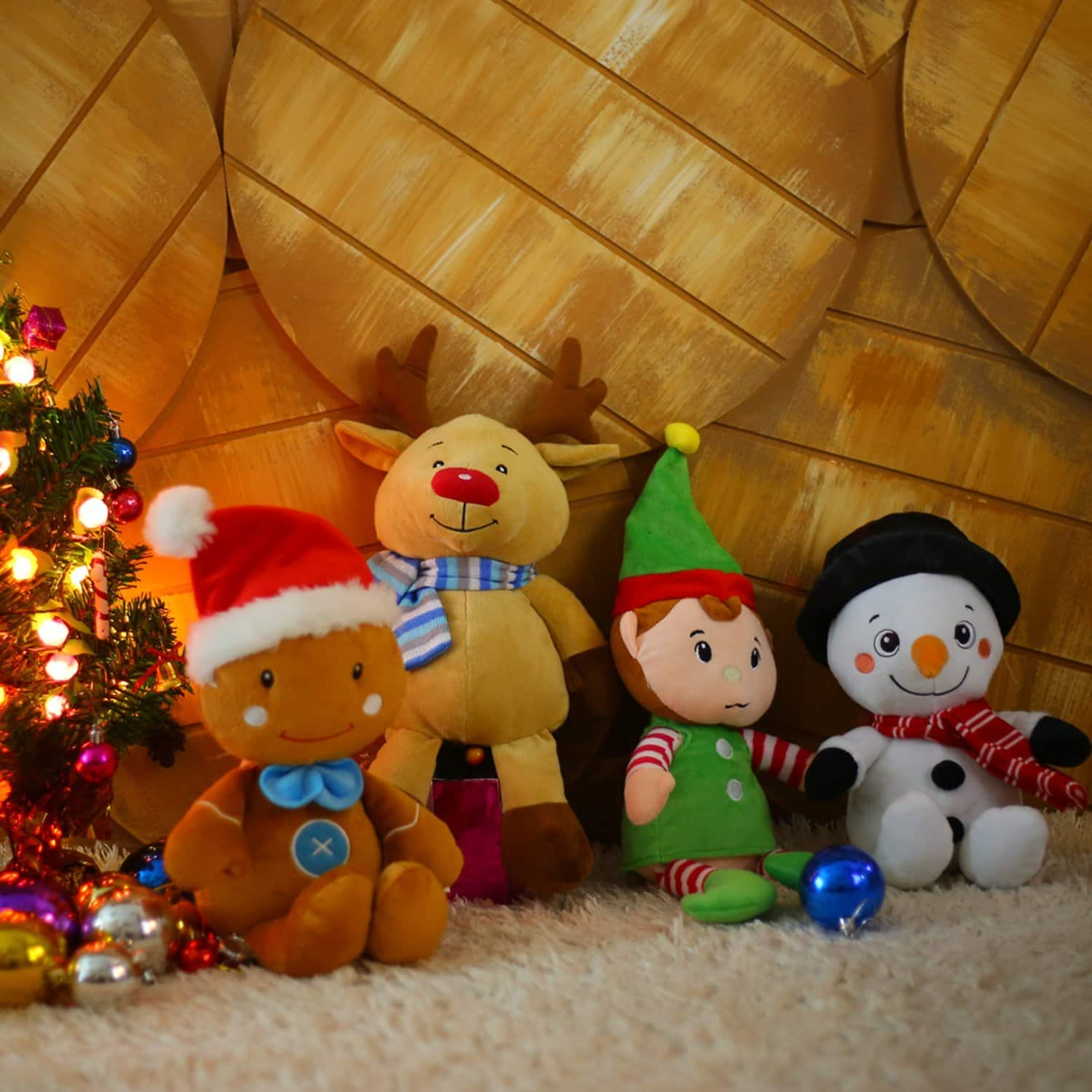 Christmas Plush Toy Decorations - Santa/Snowman/Elk/Penguin/Elf/Gingerbread Man - $5.99 (F/S Prime)