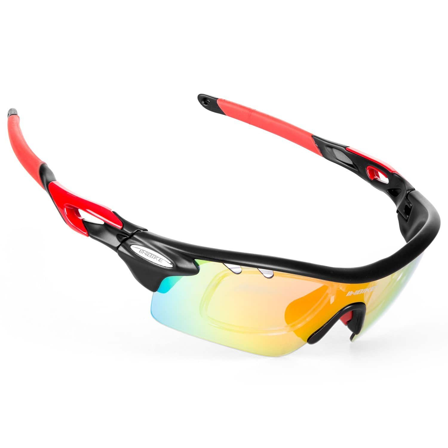INBIKE Polarized Sports Sunglasses with 5 Interchangeable Lenses - $9.99 (F/S Prime)