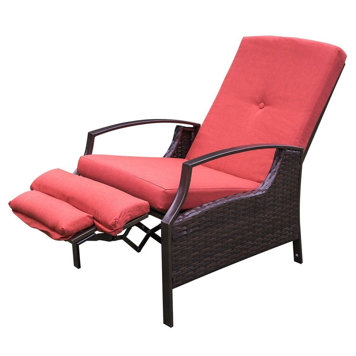 HollyHOME Patio Wicker Adjustable Recliner Chair (Free Amazon Shipping) $110  sc 1 st  Slickdeals & HollyHOME Patio Wicker Adjustable Recliner Chair (Free Amazon ...