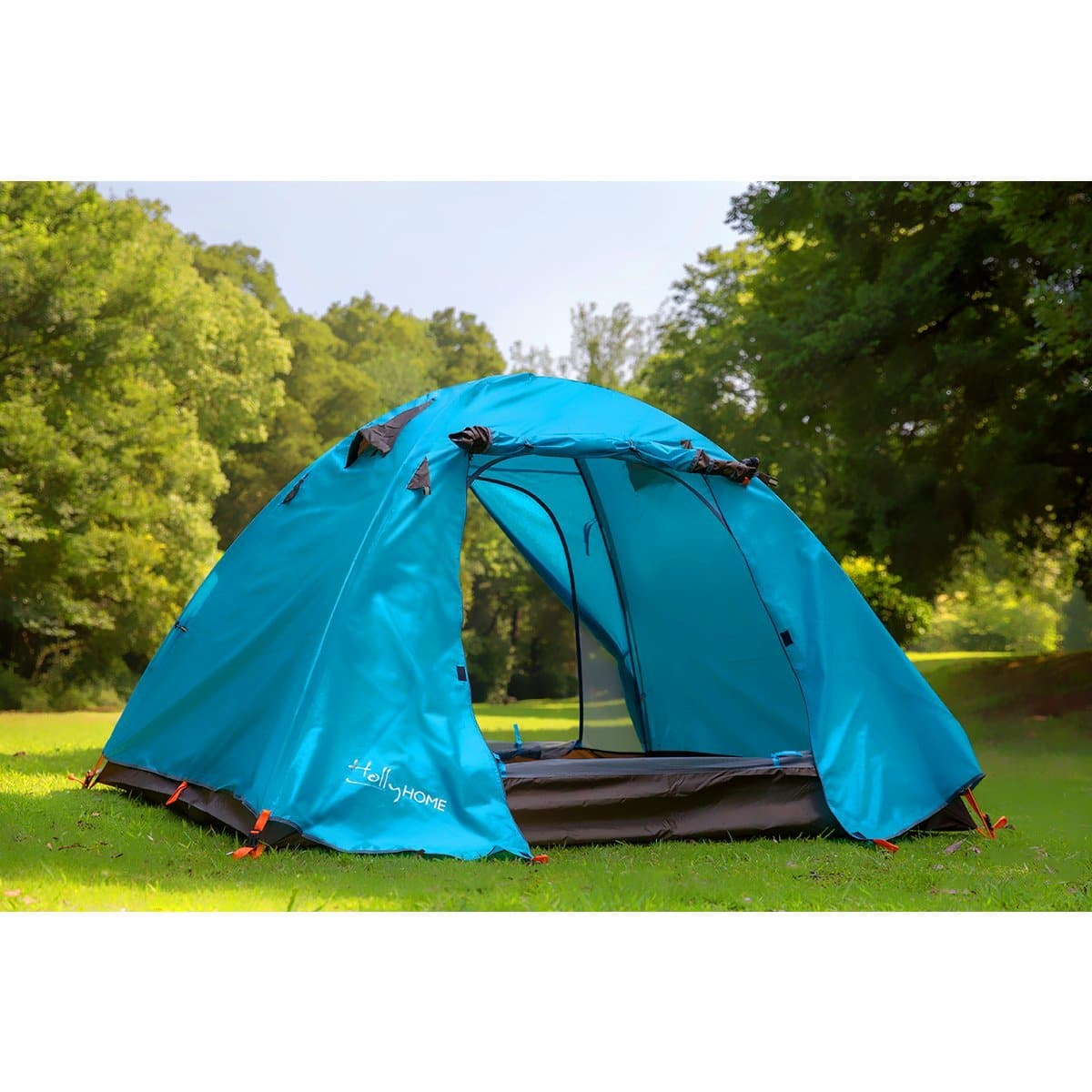 HollyHOME 3-4 Person Lighweight Backpacking Tent + Carrying Bag (Free Prime Shipping) $29.86