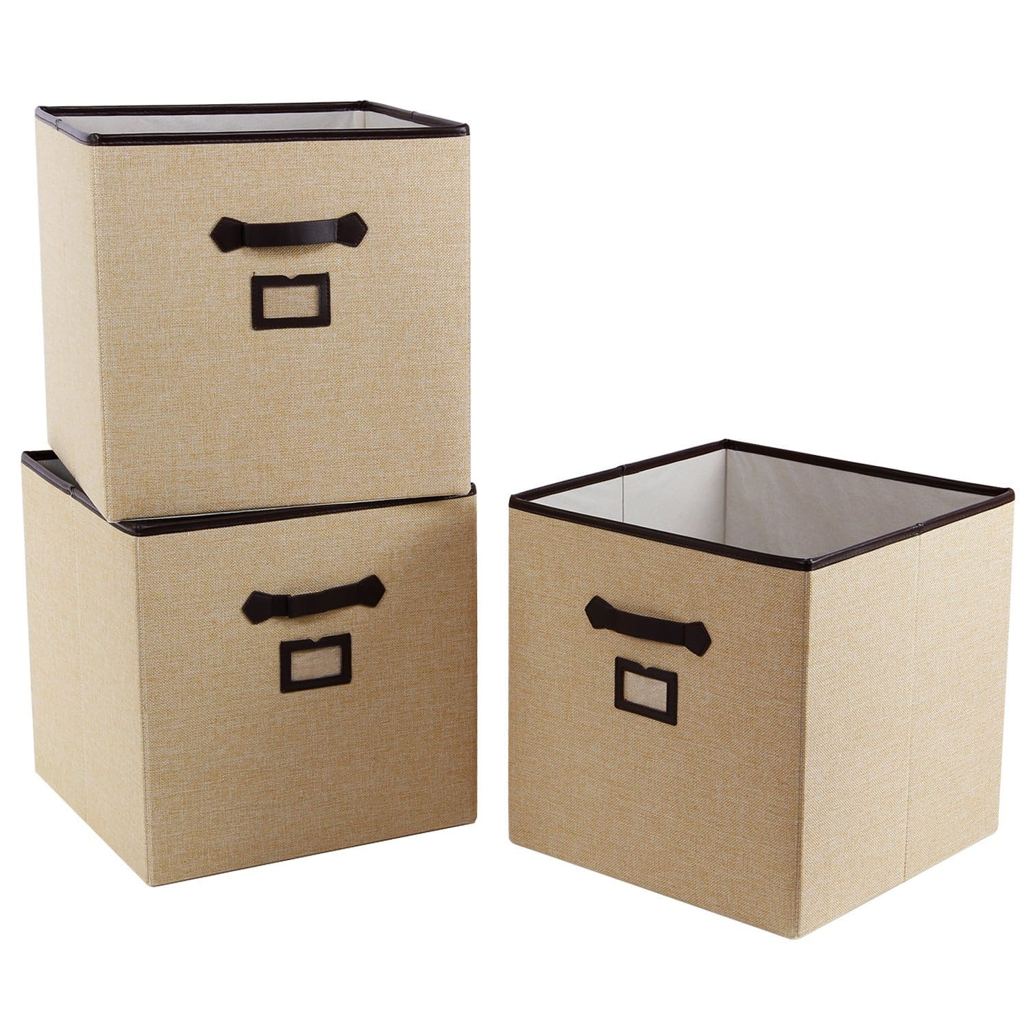 3-Pack Foldable Cloth Storage Cubes with Labels - Amazon's Choice! (Free Prime Shipping) $19.7