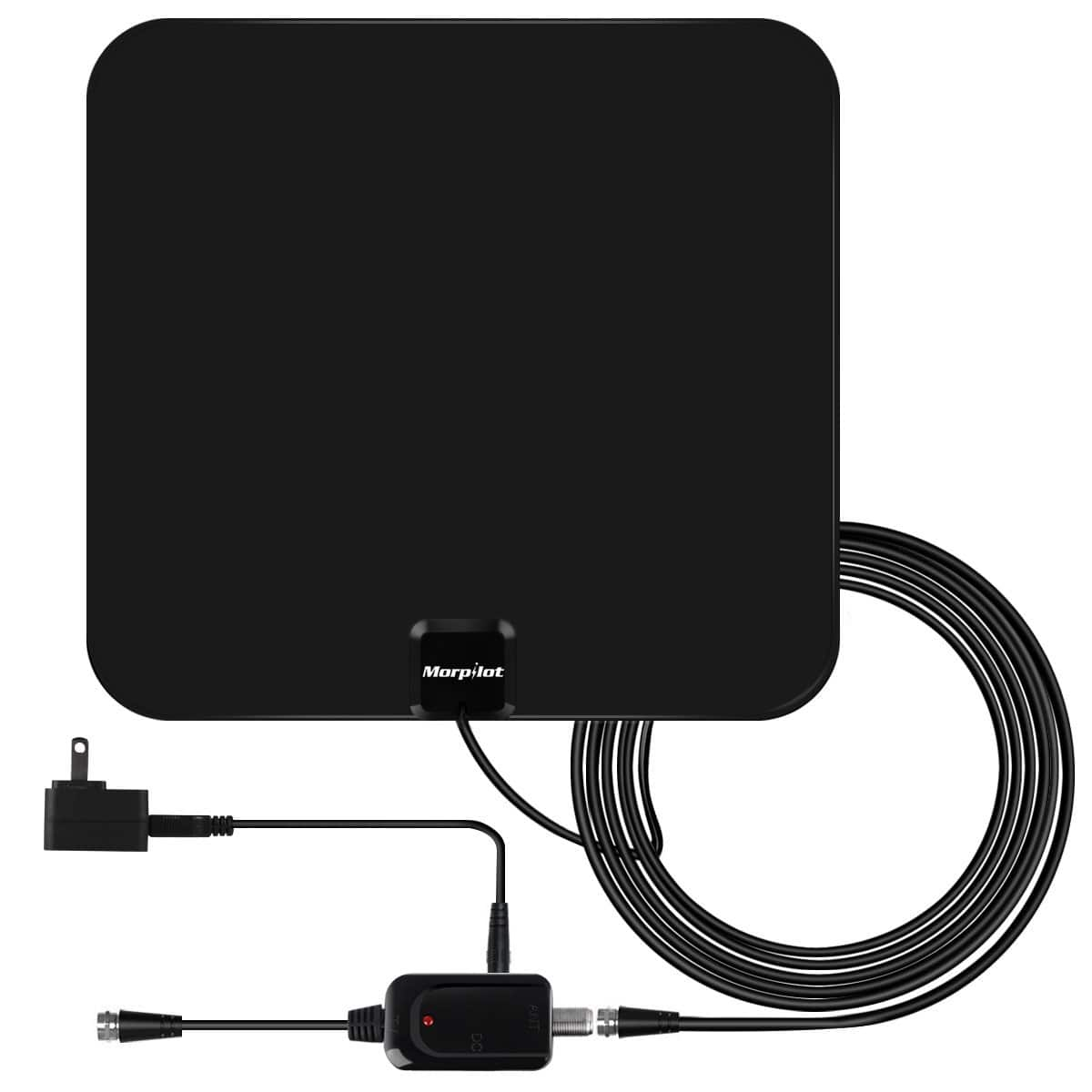 HDTV Antenna with Detachable Amplifier Signal Booster 60+ Mile Range (Free Prime Shipping) $13.65