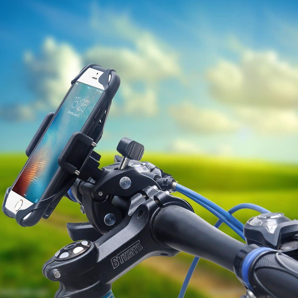 Bike/Motorcycle Phone Holder with Safety and Full Rotation for iPhone/Samsung/LG/HTC & More (Free Prime Shipping) $5.87
