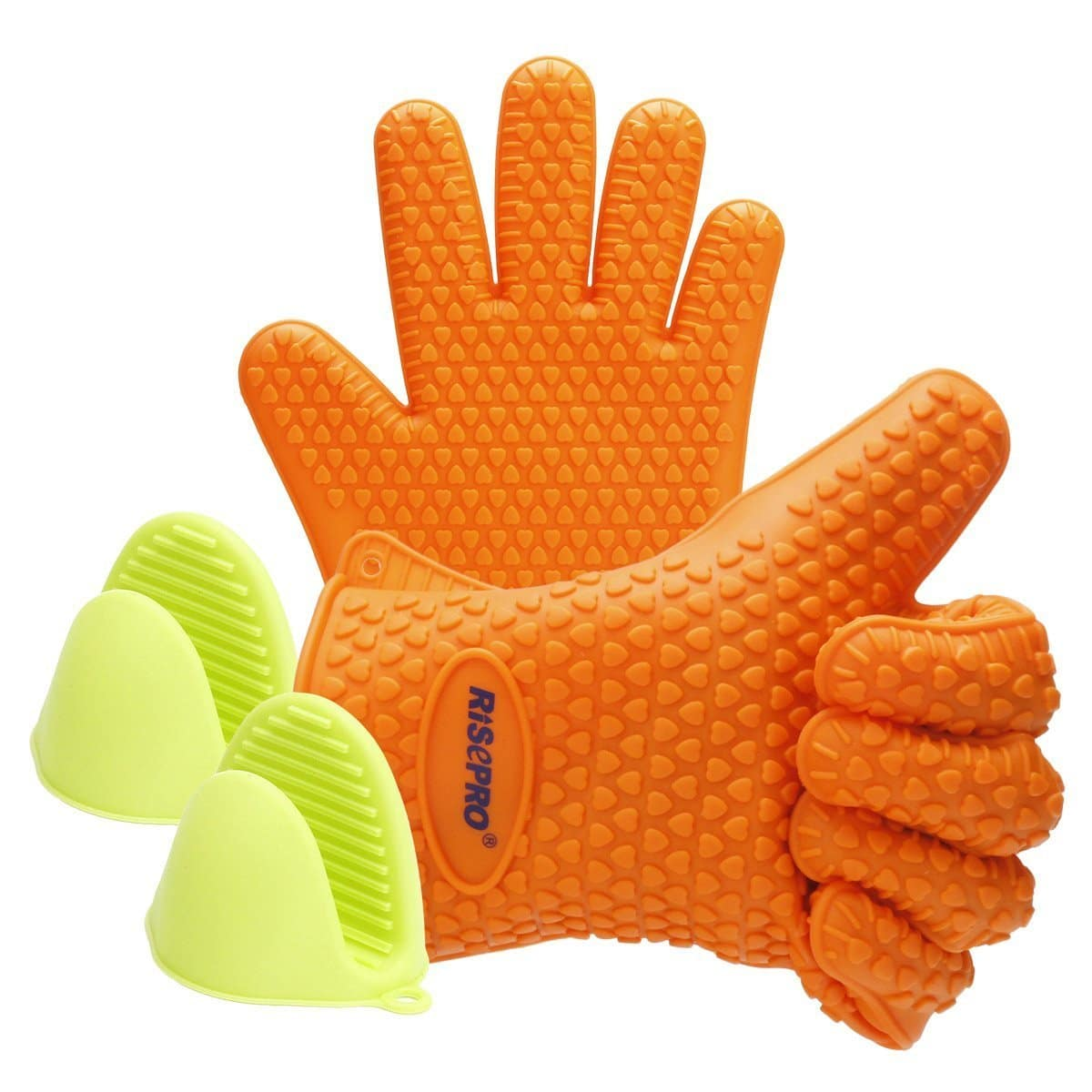Heat Resistant Silicone Cooking Gloves - Grilling/BBQ/Baking (Free Prime Shipping) $4.95