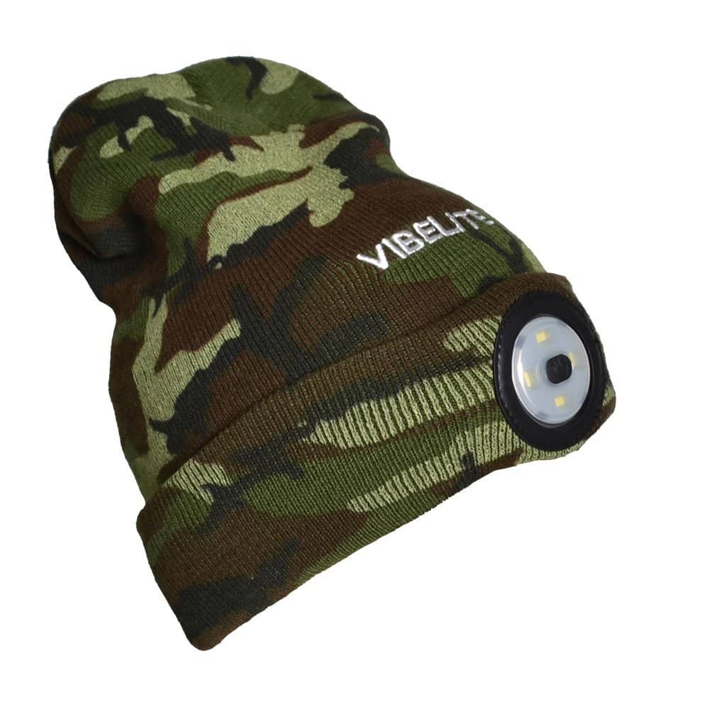Camouflage Rechargeable LED Light Winter Hat Beanie (Free Prime Shipping) $9.09