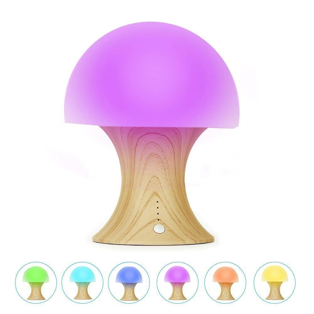 Multicolor LED Silicone Mushroom Nursery Baby Night Light (Free Prime Shipping) $10.79