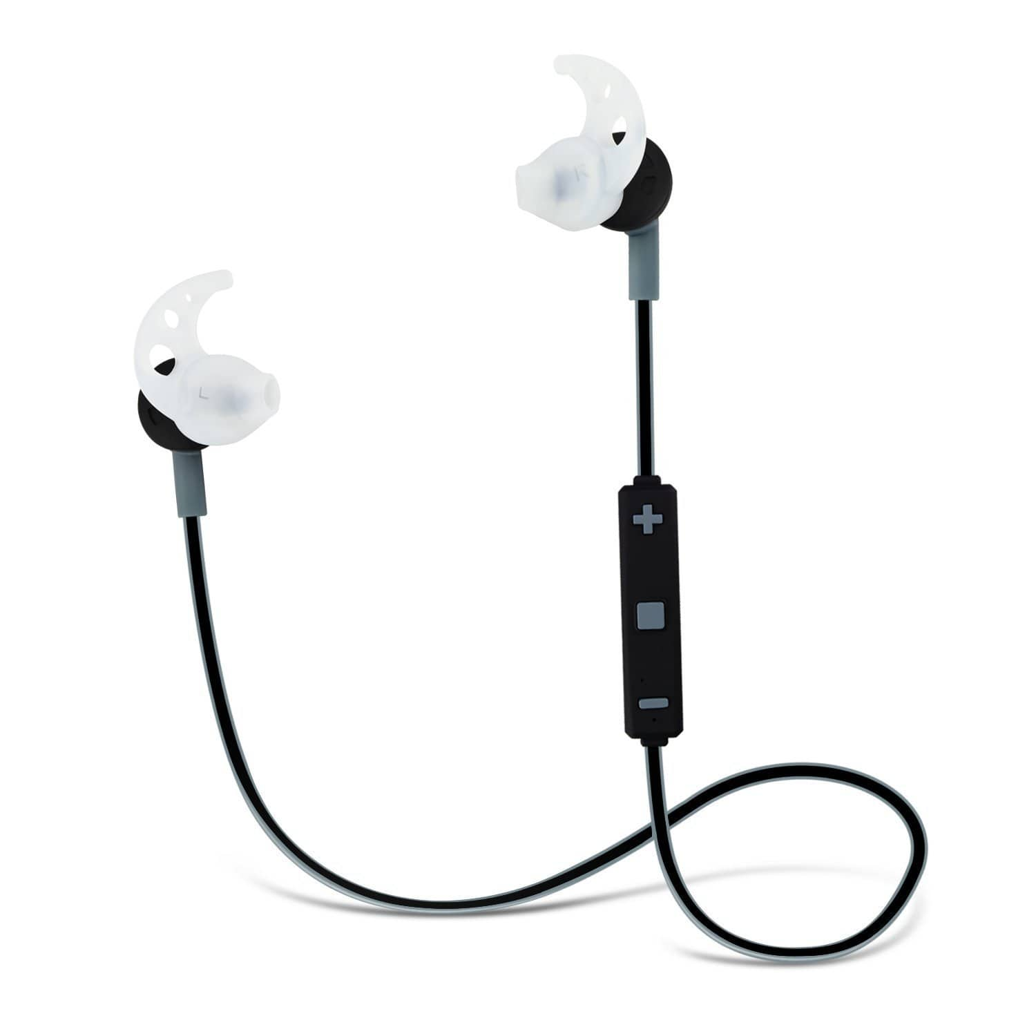 Noise Cancelling Sport Bluetooth Earbuds w/ Mic - Gray or White (Free Prime Shipping) $9.5
