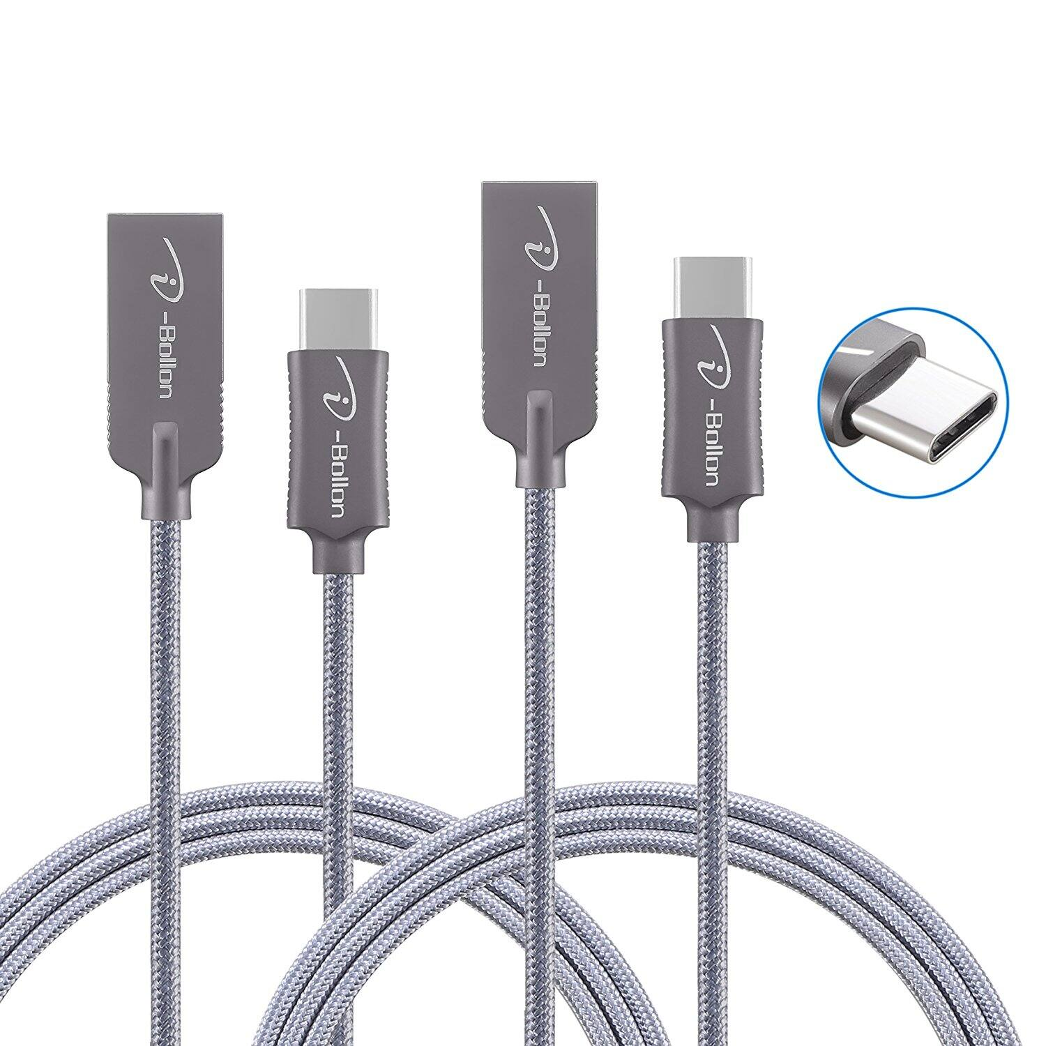 (2-Pack) 3ft USB Type C to Type A Nylon Braided Charging & Sync Cable (Free Prime Shipping) $4.99