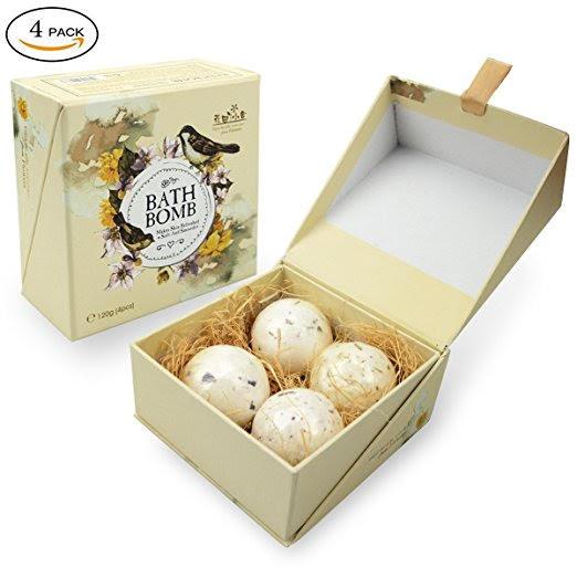 Handmade Essential Oils Bath Bombs Gift Set Kit (Free Prime Shipping) $6.53