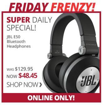 [Military Only] JBL E50 Bluetooth Headphones $48.45