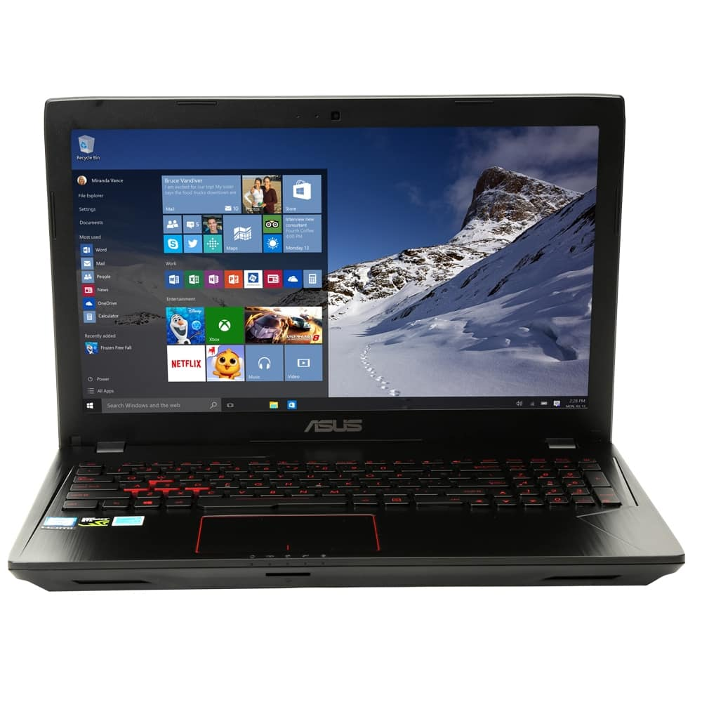 "ASUS FX53VE-MS74 15.6"" Gaming LaptopIntel Core i7-7700HQ Processor 2.80GHz; NVIDIA GeForce GTX 1050 Ti 4GB GDDR5; 16GB DDR4 RAM; 1TB HDD + 256GB M.2 SSD $899.99"