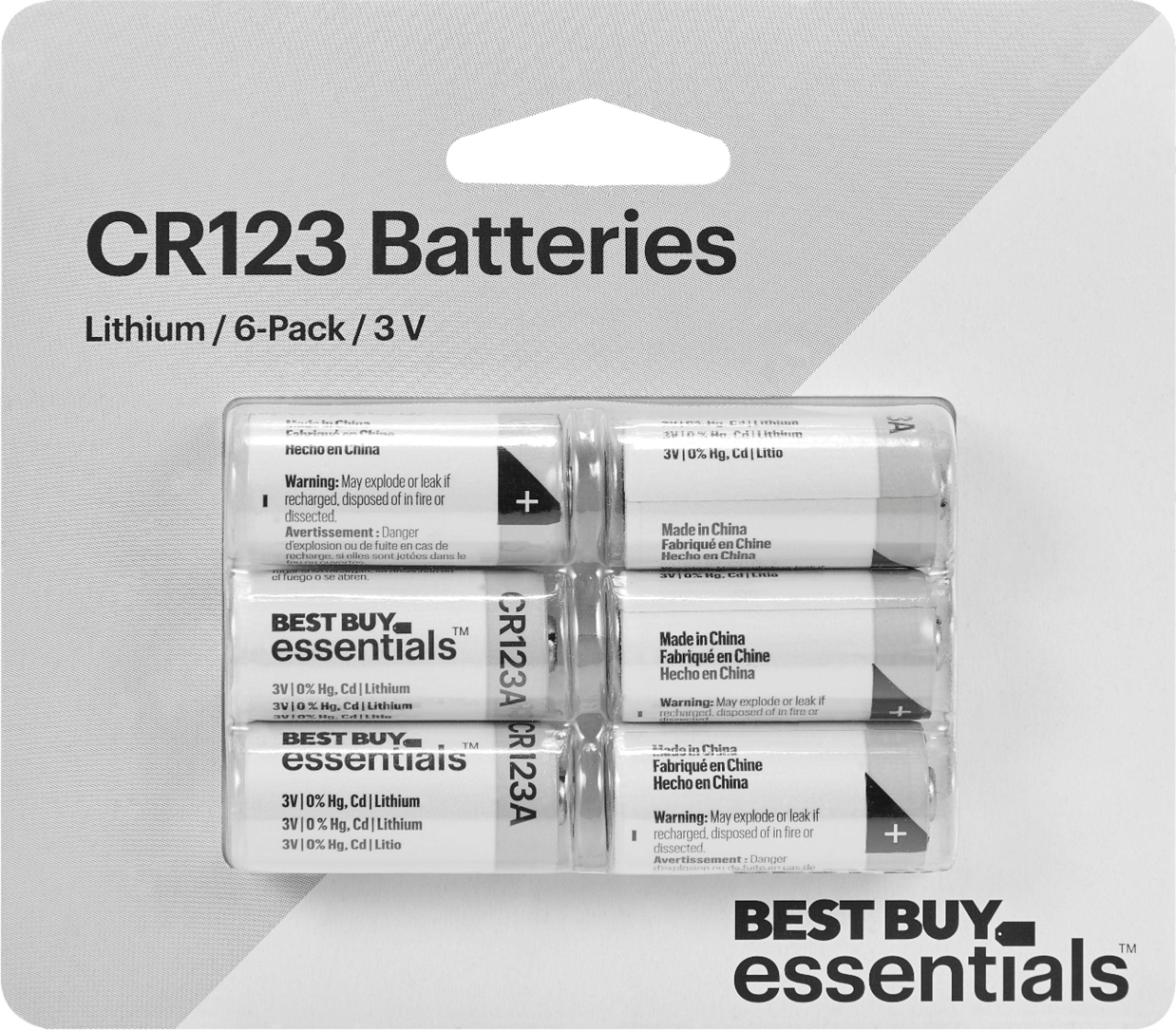 Best Buy Essentials CR123 Lithium Batteries 6-Pack $8.99 @ Best Buy