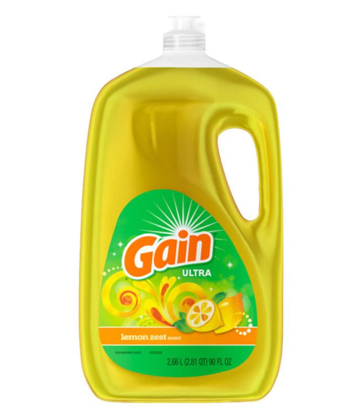 Gain Ultra Lemon Zest Dishwashing Liquid Dish Soap 90 oz, $2.48 BJ's clearance YMMV