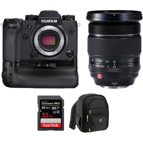 Fujifilm X-H1 with battery grip + XF16-55