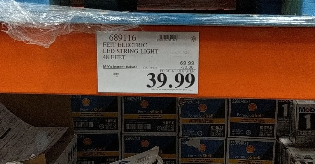 COSTCO - FEIT Electric Led String Lights 48 ft. Color Changing (item 689116) $39.99 (YMMV)