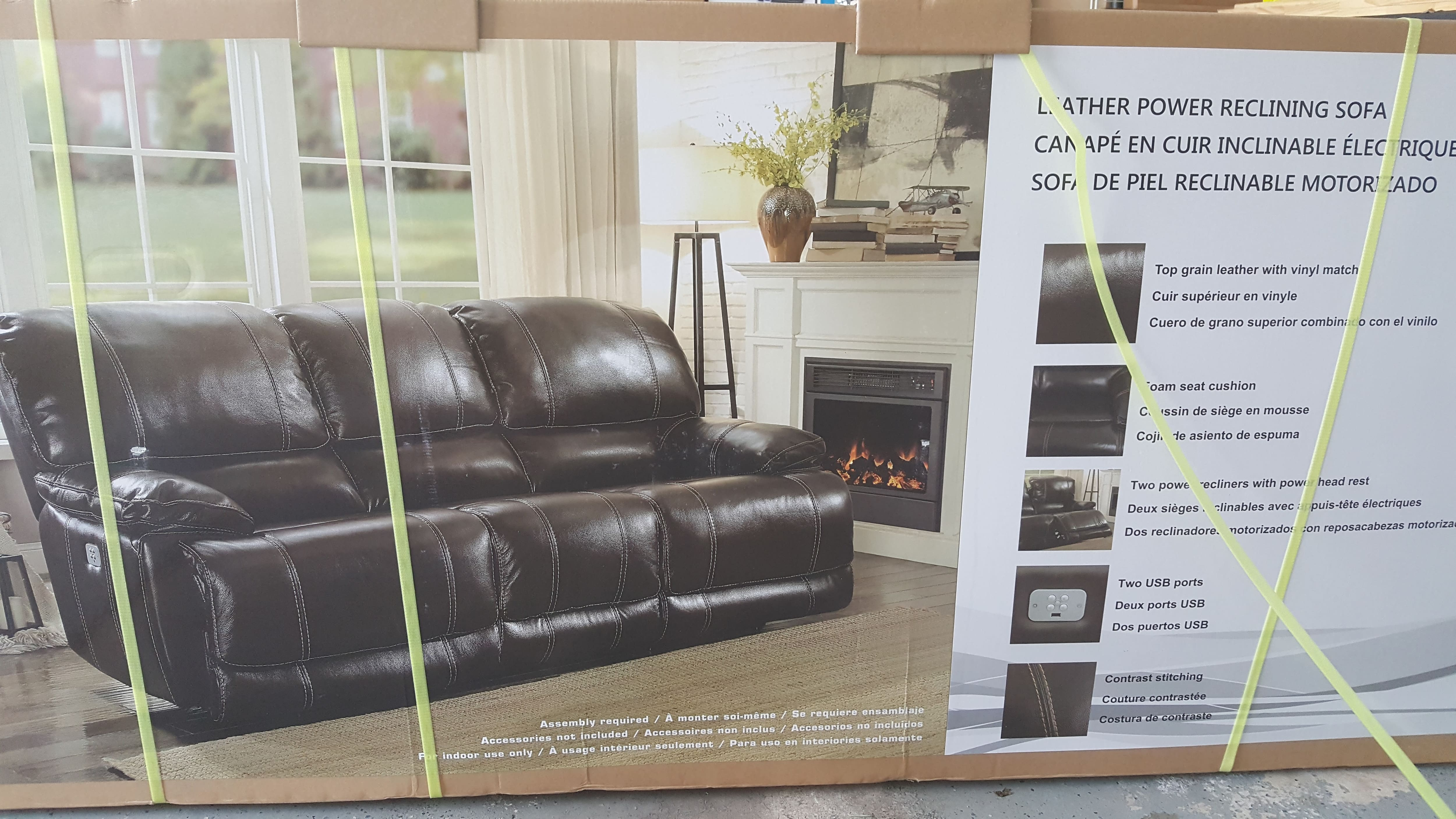 Top Grain Leather Power Reclining Sofa $800, Love Seat $700 At Costco  Instore   Slickdeals.net