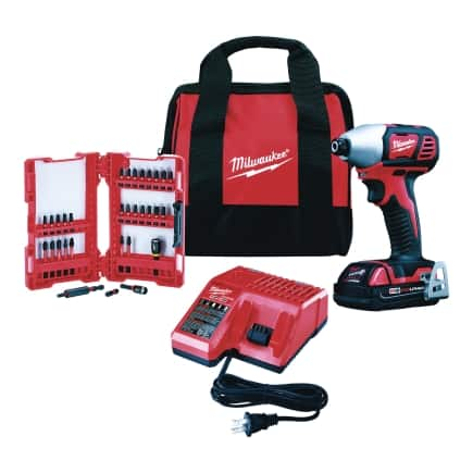 Milwaukee M18 Cordless 1/4 in. Hex Impact Driver Kit + Free Store Pickup @ Ace Hardware $100