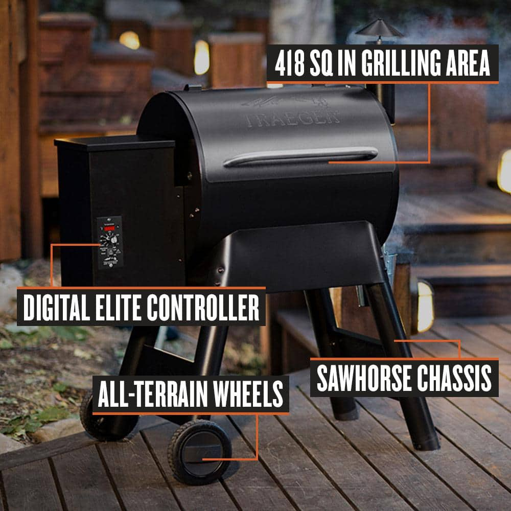 Traeger Eastwood 22 Wood Pellet Grill and Smoker in Silver Vein @ Home Depot B&M YMMV $399