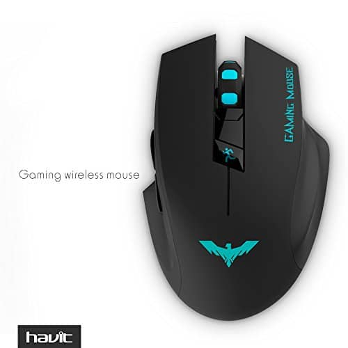 HAVIT HV-MS976GT 2.4GHz Adjustable wireless gaming mouse $6.50 lightning deal after coupon