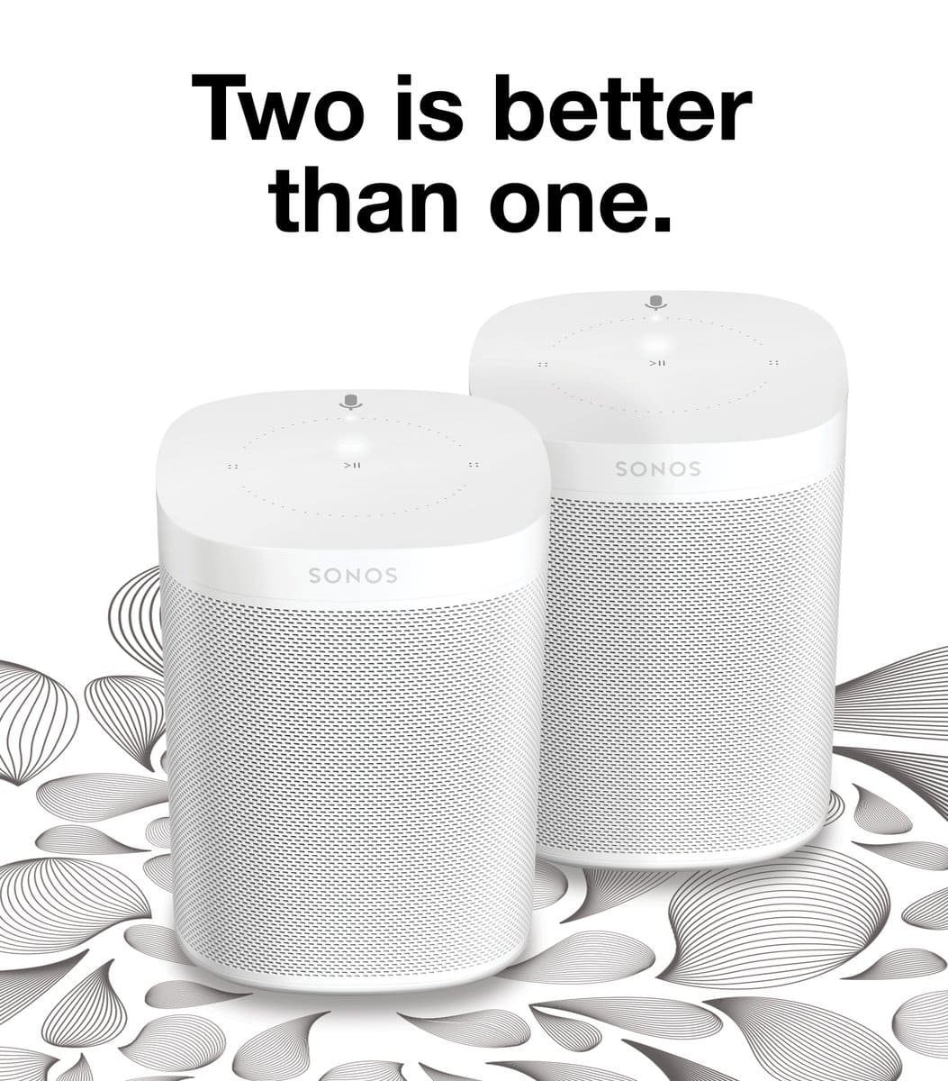 Limited Time Offer: TWO (2) Sonos Ones With Integrated Alexa For $349 Starting 1/26/18