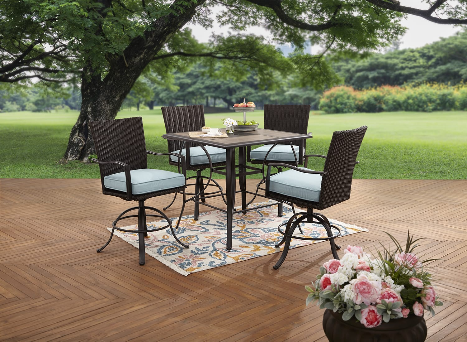Better Homes And Gardens Piper Ridge 5 Piece Outdoor High Dining Set YMMV 124