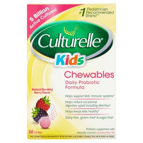 Culturelle Kids Chewables Probiotic, Natural Bursting Berry Flavor, 30 ct $13.36 S&S@amazon