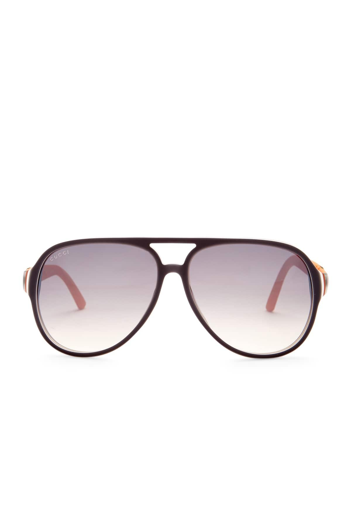 GUCCI Men's Aviator Plastic Frame Sunglasses $119.97+ fs@Nordstrom Rack