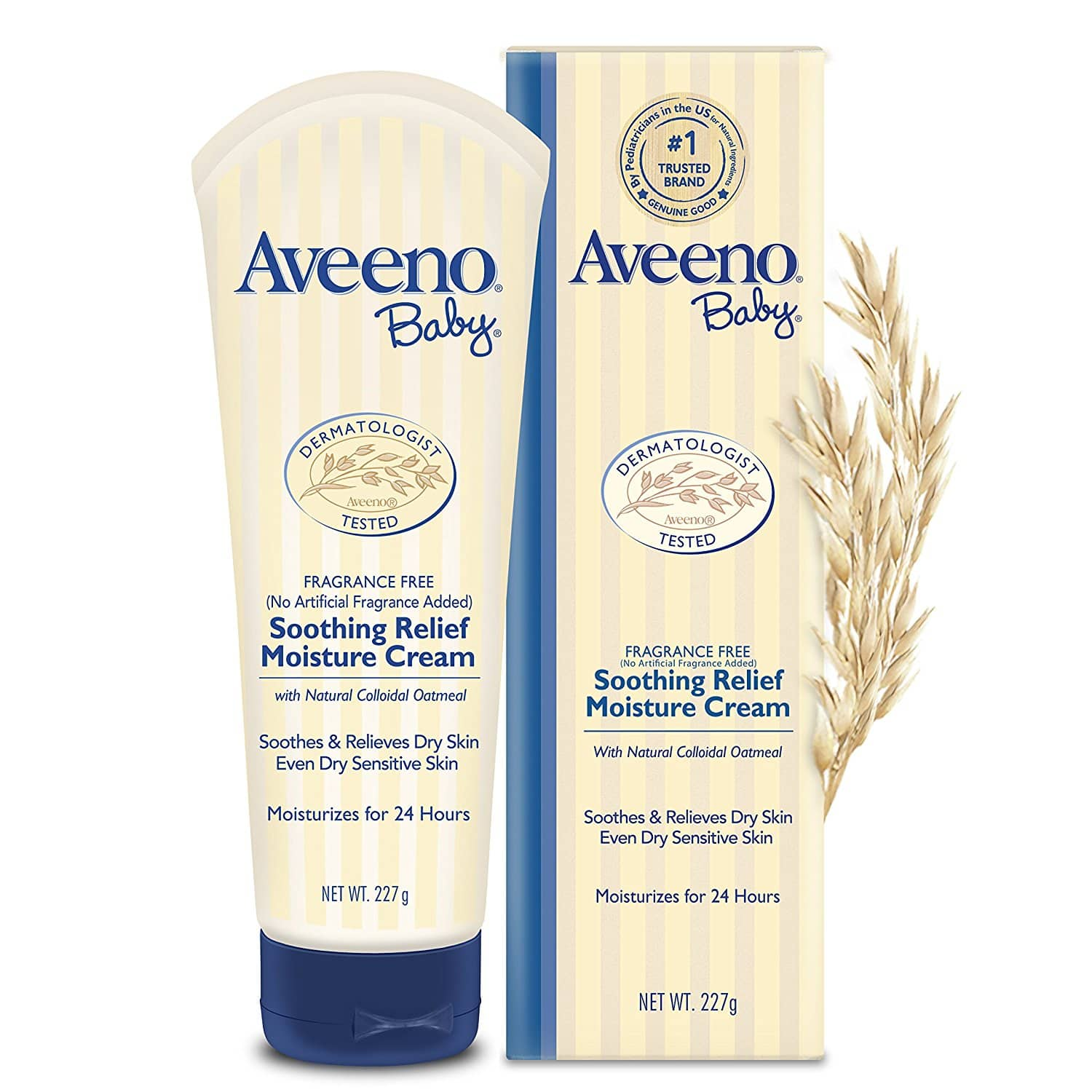 Aveeno Baby Soothing Relief Moisturizing Cream For Dry Sensitive Skin, 8 Oz. $5.64 $5.63