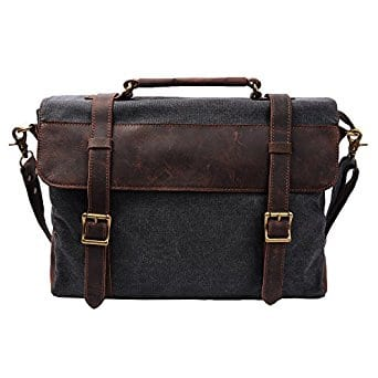 S ZONE Vintage Canvas Leather Messenger Bag $27.99