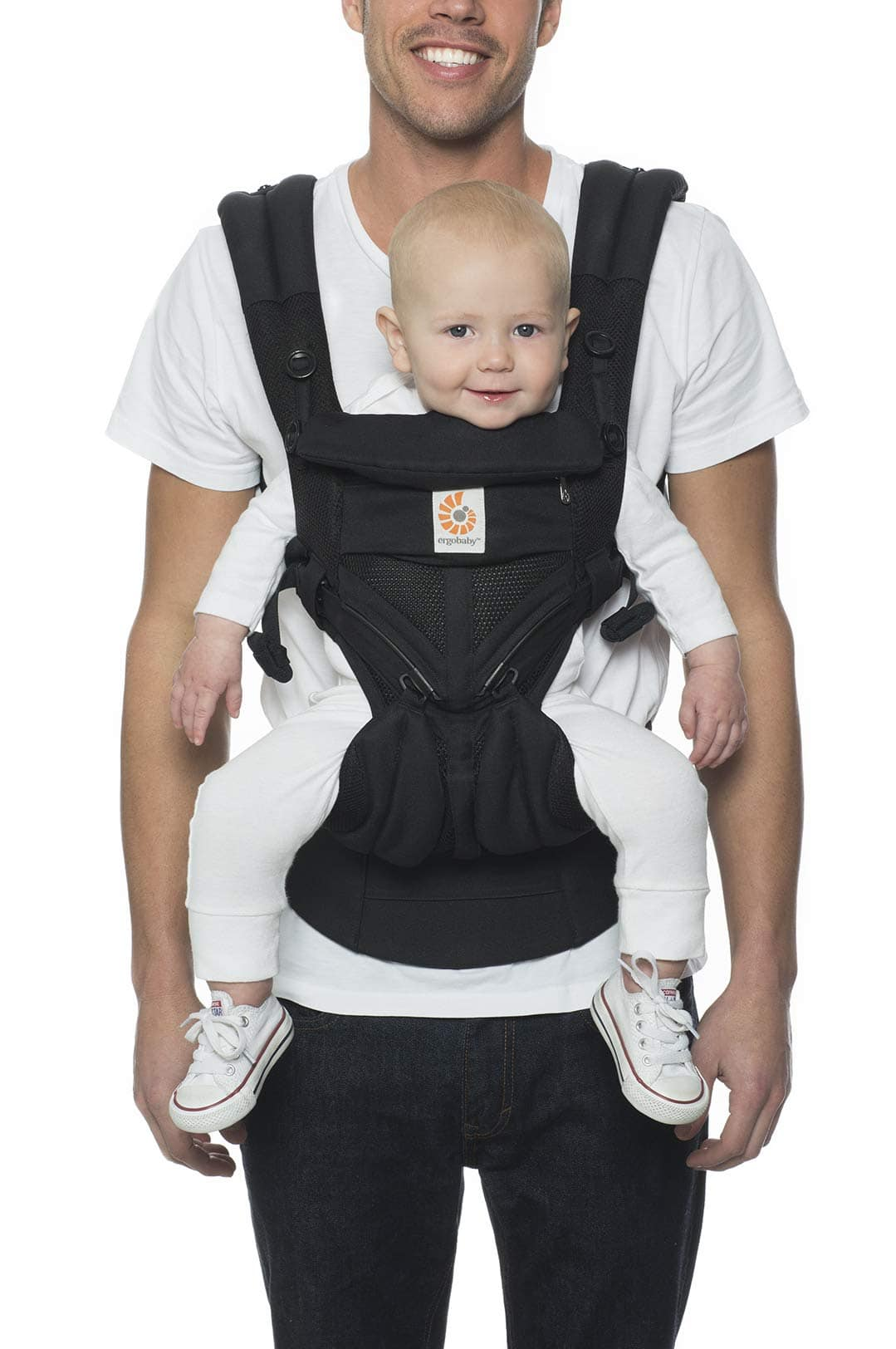Ergobaby Omni 360 All-Position Baby Carrier for Newborn to Toddler with Lumbar Support & Cool Air Mesh (7-45 Lb), Onyx Black - $107.99 at Amazon