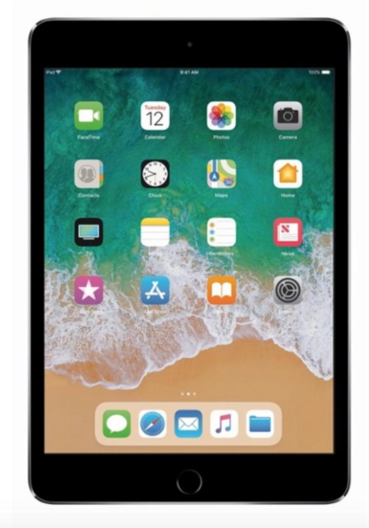 Apple iPad WiFi Tablet: 128GB Mini 4 $299.99