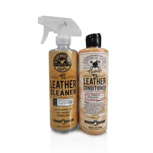 Chemical Guys Leather Cleaner and Conditioner Complete Leather Care Kit (16 oz) (2 Items): Automotive $15.99