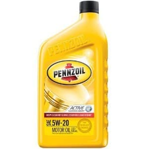 Pennzoil conventional motor oil 5w-20 for 12 quarts for $16.54