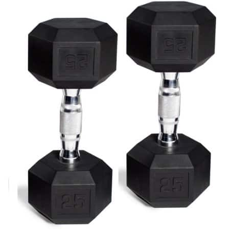 CAP Barbell Rubber-Coated Hex Dumbbells, Set of 2 (10 lbs) $8.97 at Walmart