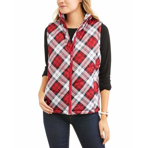 Jason Maxwell Women's Classic Puffer Vest $7.96@walmart