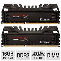 Kingston 16GB(2x8GB) HyperX Beast Memory Module 2400MHz DDR3, CL13 Tigerdirect Daily Deal $  119.99