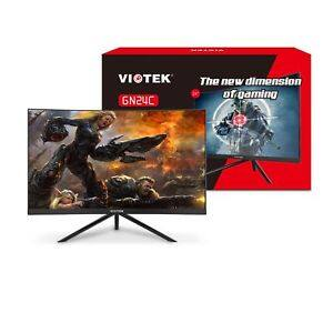 "VIOTEK GN24C 24"" Curved Monitor Samsung VA Panel Speakers HD 1080p 144Hz; [189.99 + FREE Shipping] $189.99"