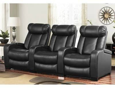 Larson Leather Reclining Home Theater Seating, 3-Piece Set $949.00​ + Free Shipping