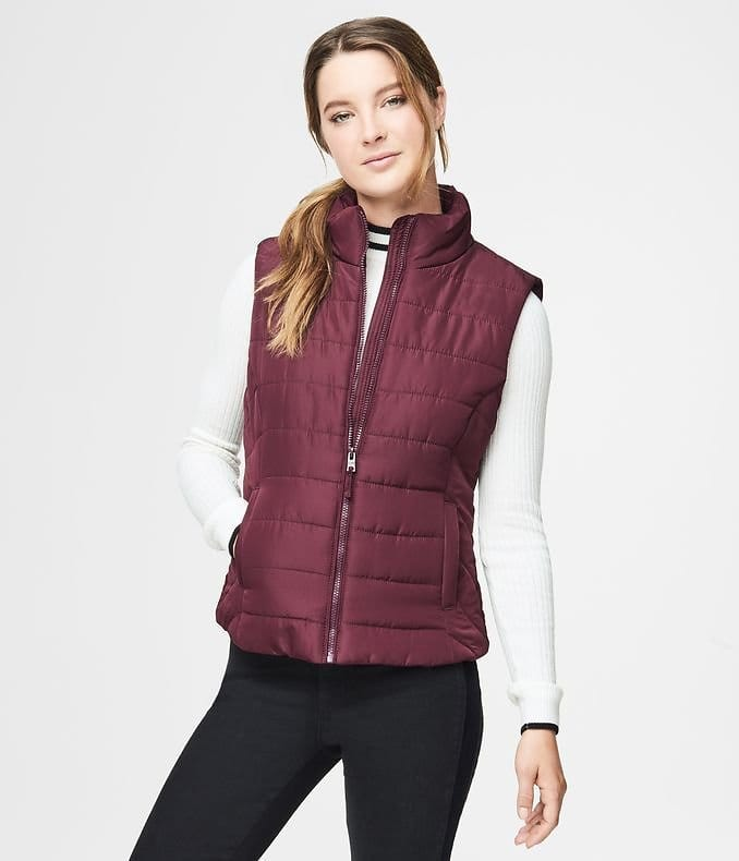 Aeropostale Quilted Vest (8 Color Choices) $13.87